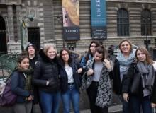 La classe de Terminale STAV au Musée du Louvre